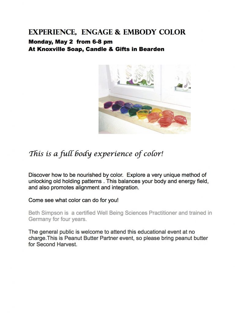 Experience, Engage and Embody Color